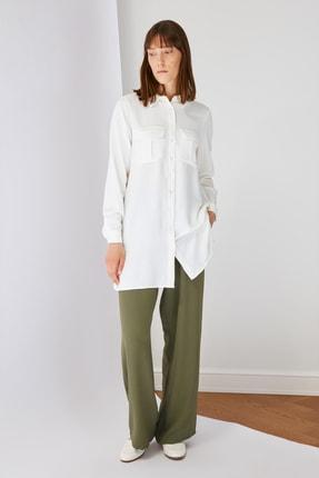 Trendyol Modest Haki Wide Leg Lastik Belli Pantolon TCTSS21PL0587
