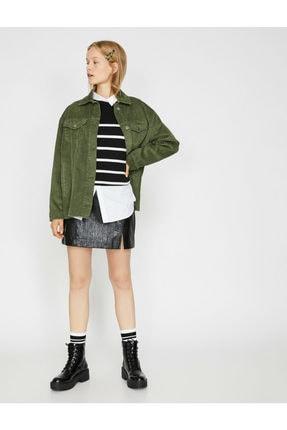 Koton Kadın Yeşil Ceket 0KAL58053OW