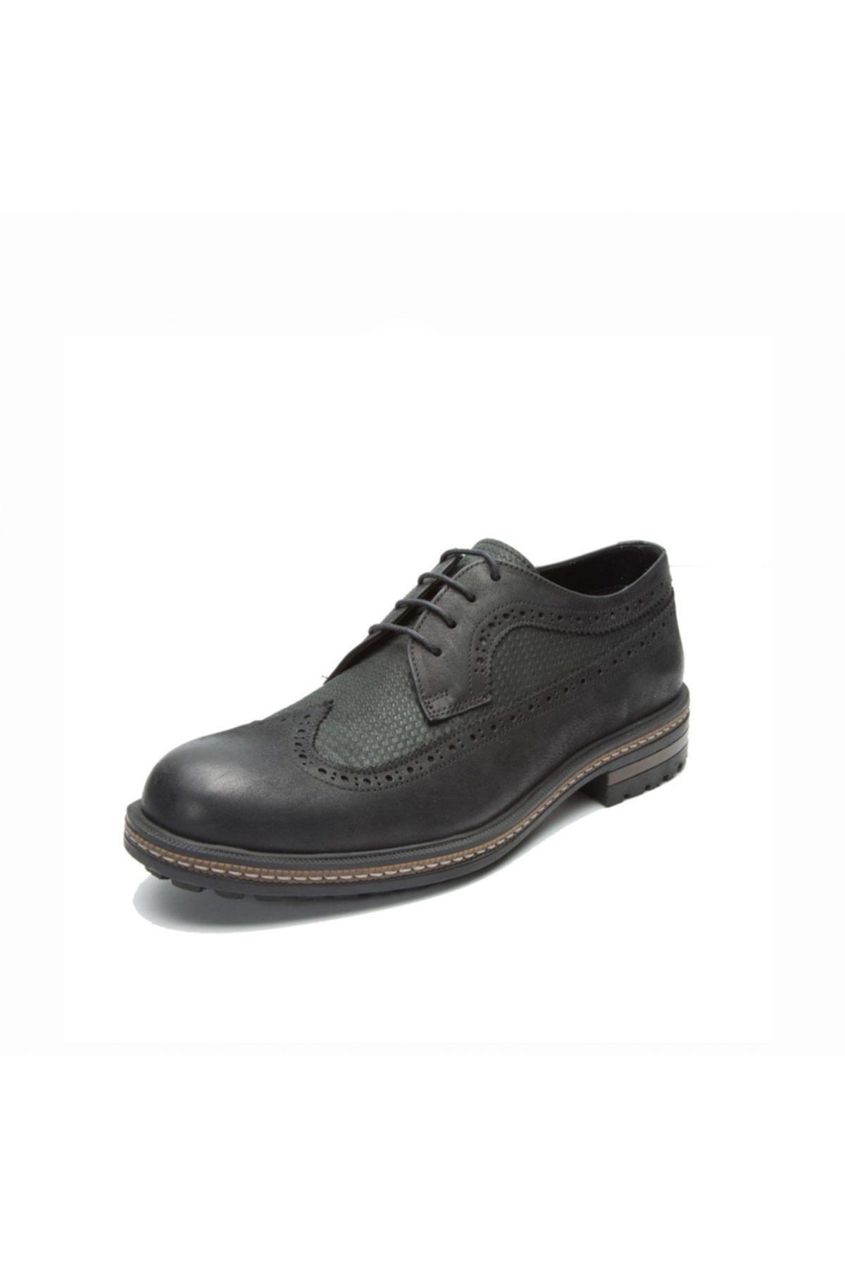 Hammer Jack Sıyah Yıkama Nubuk Erkek Klasik Ayakkabı 102 15650-M-5500 2