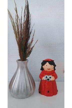 bizimsepetimiz Sevimli Kız Biblo Ve Çiçekli Vazo (çiçek Dahil)