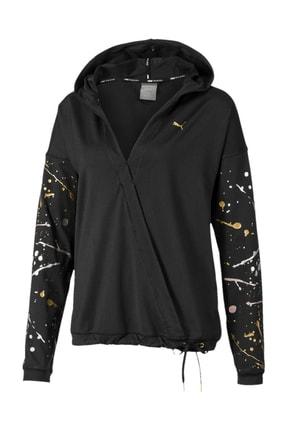 Puma Kadın Sweatshirt - Metal Splash Lux Wrap Hoodie - 51903801
