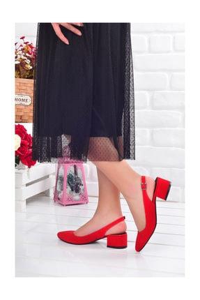 Ayakland 510-74 Süet 3 Cm Topuk Bayan Sandalet Ayakkabı