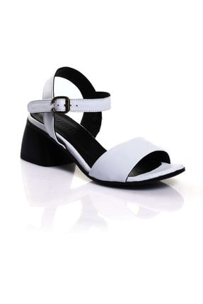 BUENO Shoes Beyaz Bayan Sandalet 9l3900