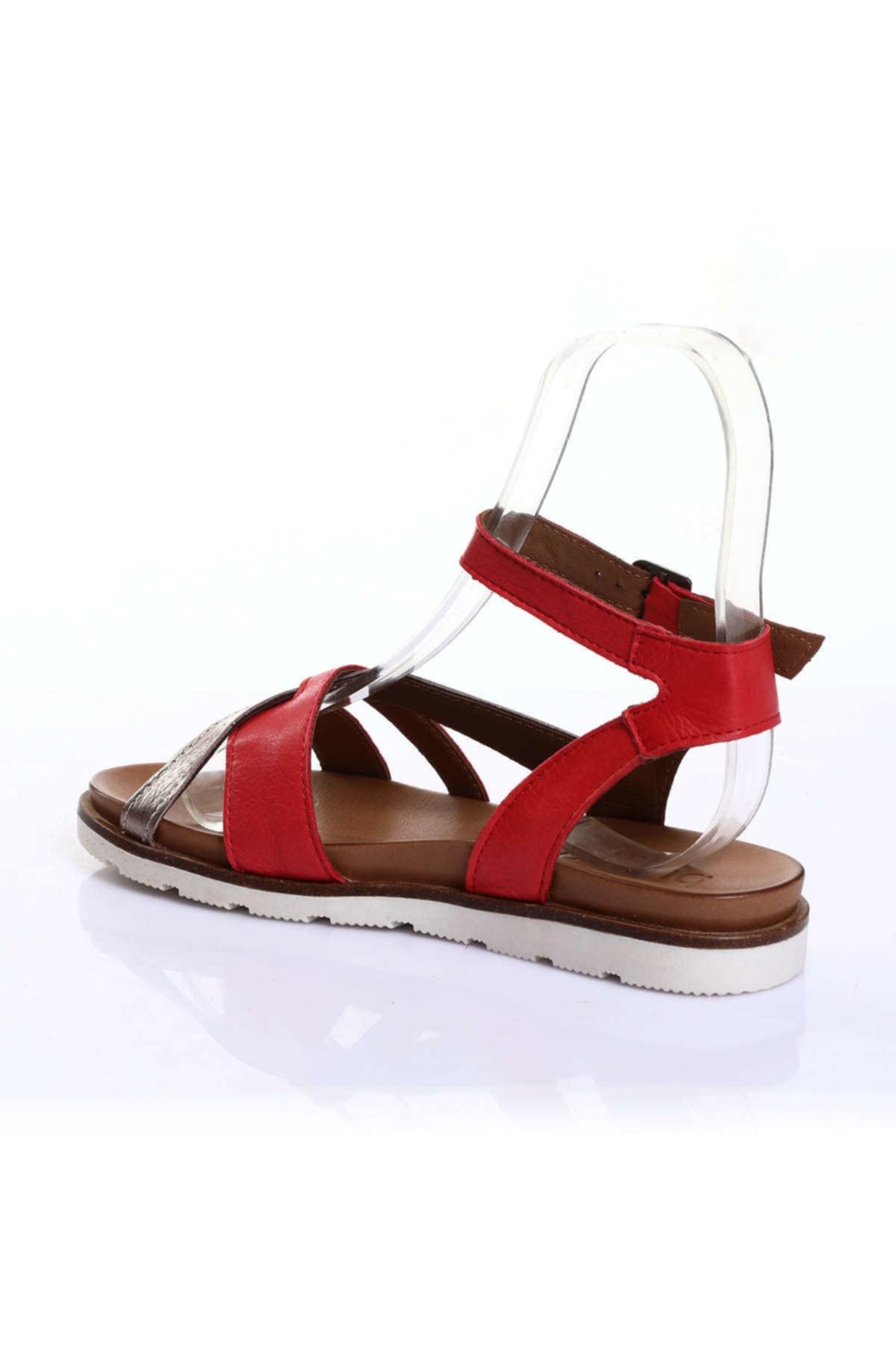 BUENO Kırmızı Kadın Sandalet 9L0510 2