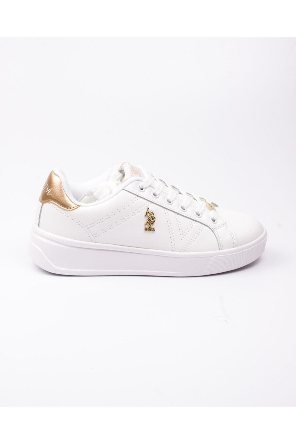 U.S. Polo Assn. U. S. Polo Exxy Beyaz Kadın Sneaker Beyaz-38 2