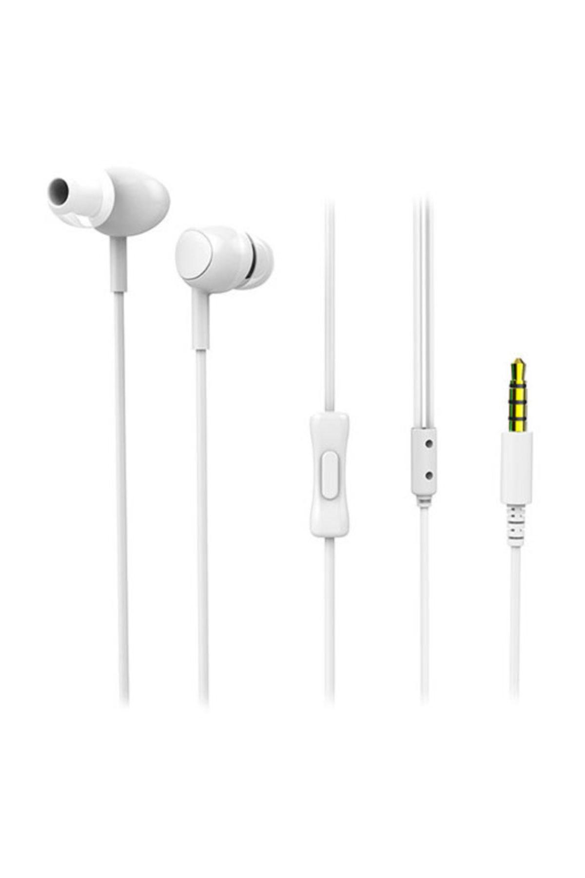 Snopy Sn-x05 Corvina Mobil Telefon Uyumlu Beyaz Kulak Içi Mikrofonlu Kulaklık 1