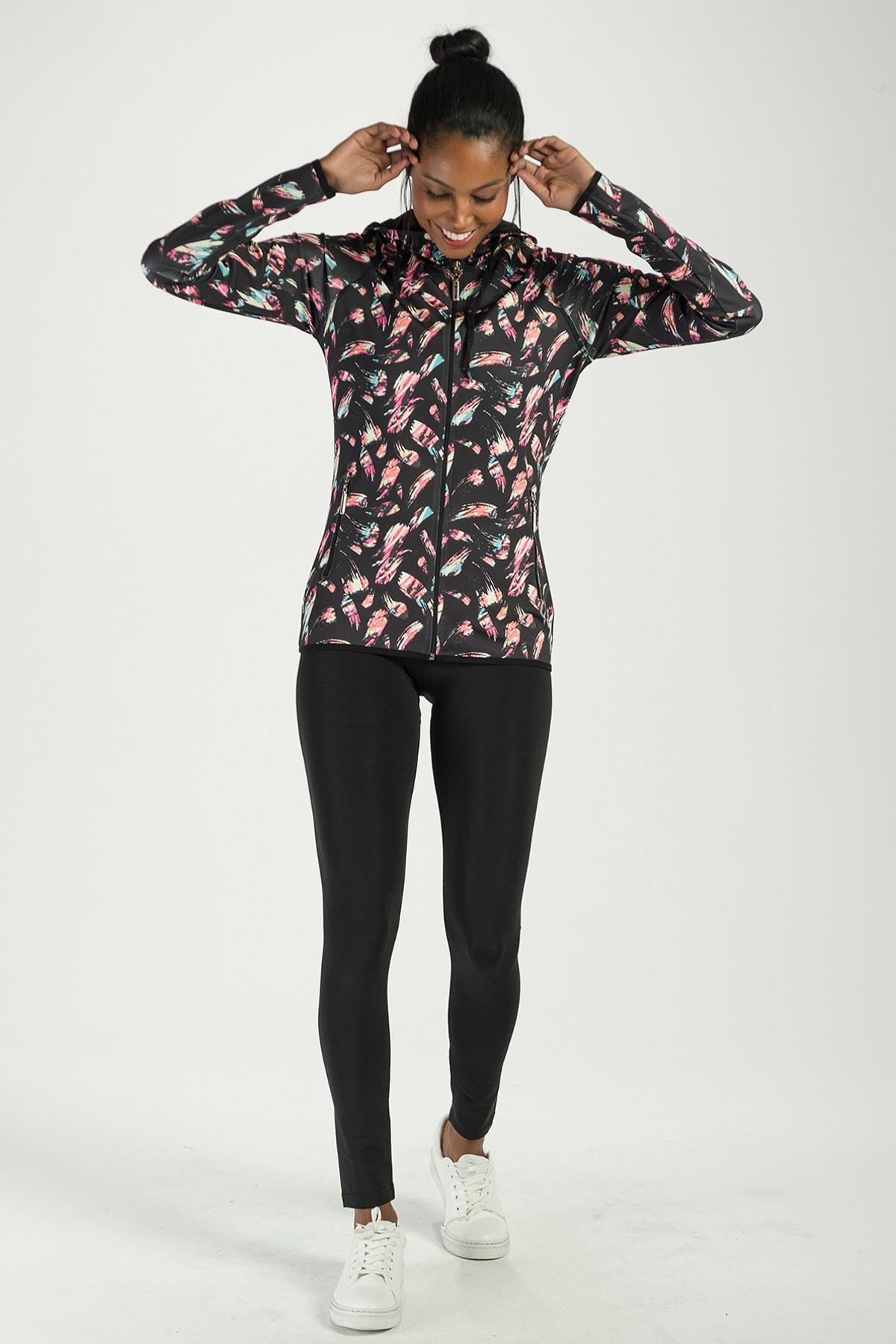 Runever Kadın Siyah Tayt Takım 1