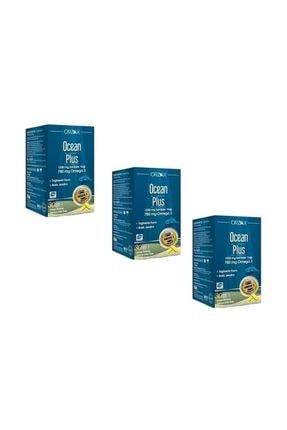 Ocean Plus 1200 Mg Omega 3 Saf Balık Yağı 30 Kapsül 3 Adet