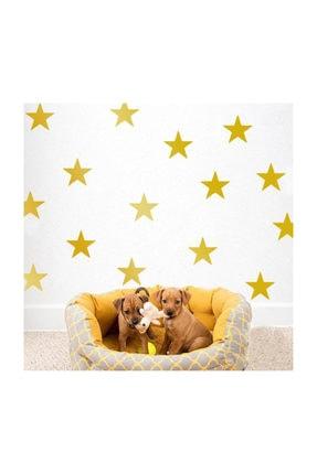KT Decor Büyük Boy Gold Sarı Yıldız Sticker