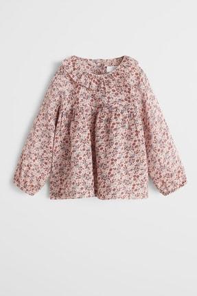 MANGO Baby Fırfırlı çiçekli bluz