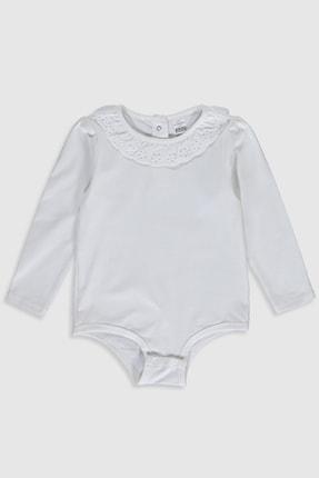 LC Waikiki Kız Bebek Ekru Eew Bebek Body & Zıbın