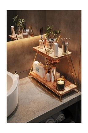 Bino Üçgen Masa Servis Rafı Dekoratif Mutfak Banyo Düzenleyici