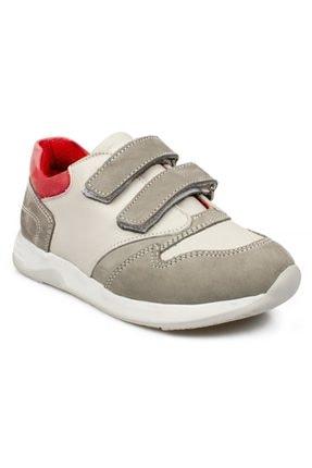 Toddler 6102 P Çift Cırt Gri Çocuk Ayakkabı