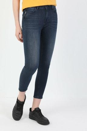 Colin's 759 Lara Süper Dar Kesim Normal Bel Süper Dar Paça Koyu Mavi Kadın Pantolon CL1048711