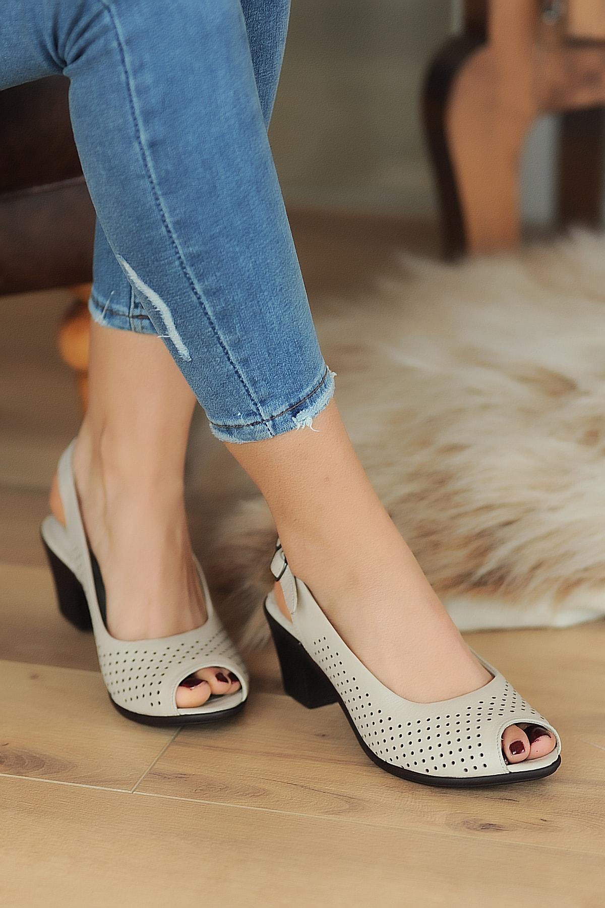 Pembe Potin Bej Kadın Sandalet A610-20 2