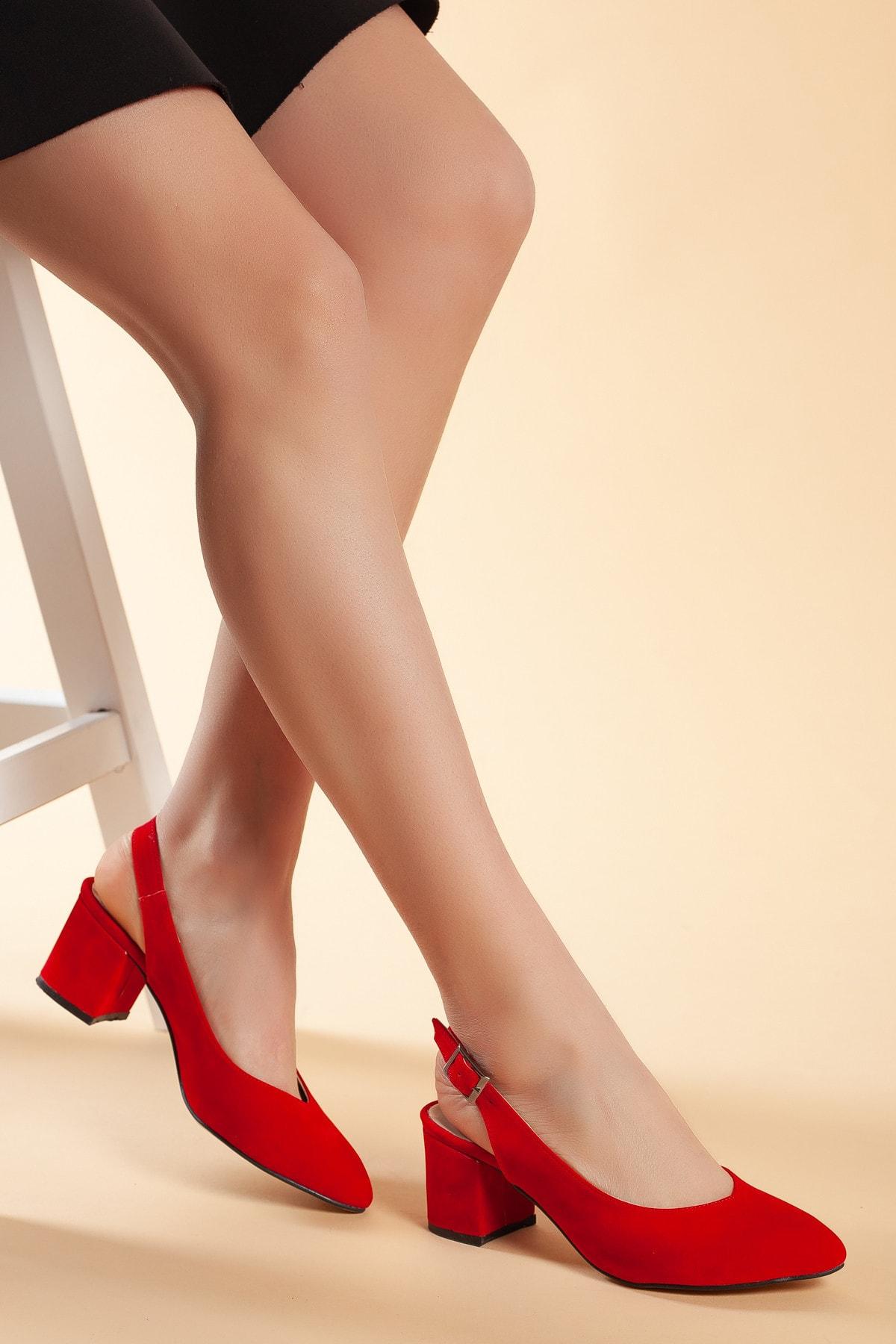 Daxtors Kırmızı-Süet Kadın Ayakkabı DXTRSGZH209 1