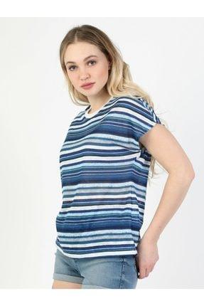 Colin's Mavi Kadın Kısa Kol Tişört