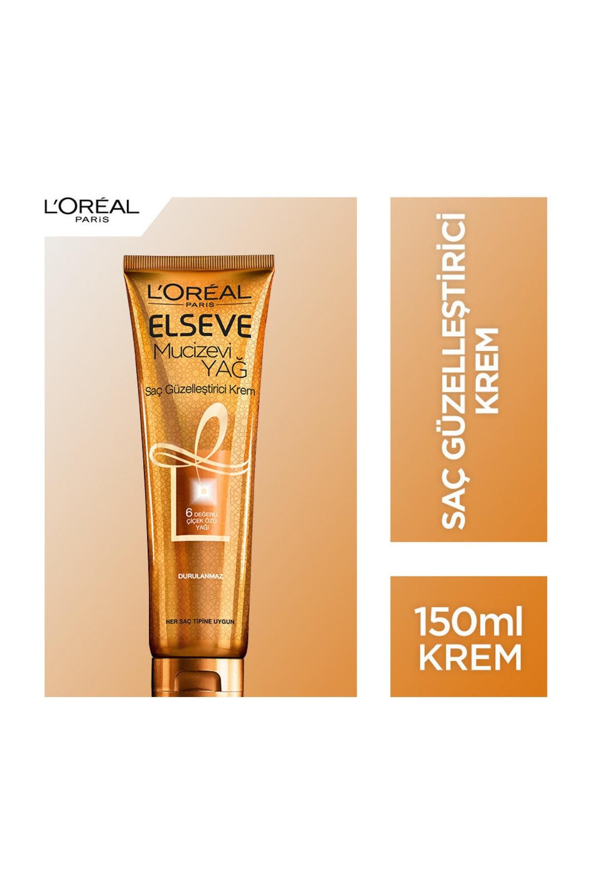 L'Oreal Paris Elseve Mucizevi Yağ Saç Güzelleştirici Krem 150 Ml (Her Saç Tipine Uygun) 1
