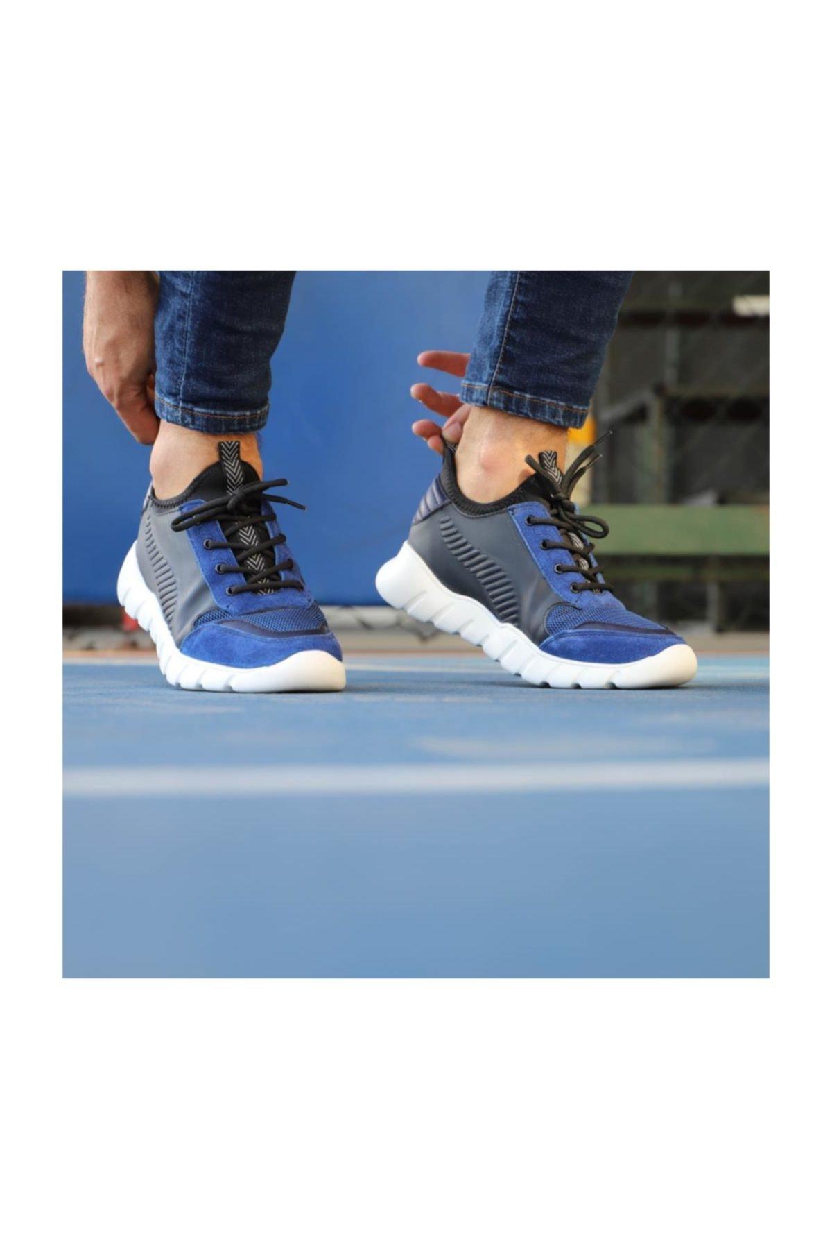 TETRİ Mavi Süet Spor Ayakkabı 1