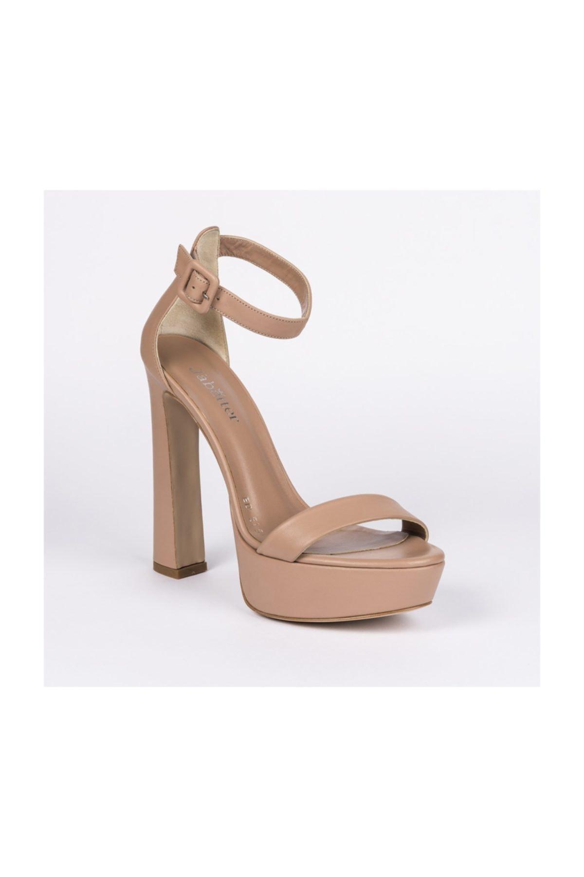Jabotter Desire Karamel Deri Platform Topuklu Ayakkabı 2