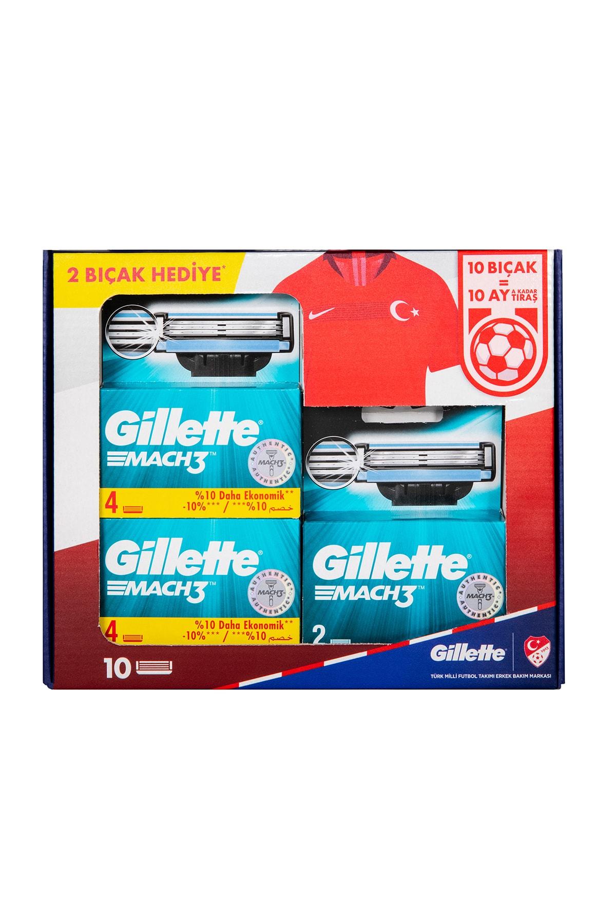 Gillette Mach3 Yedek Tıraş Bıçağı - 10'lu 2