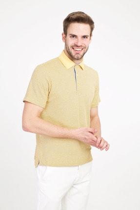 Kiğılı Erkek Limon Sarı Polo Yaka Regular Fit Desenli Tişört