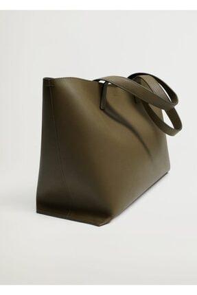 MANGO Woman Saplı Shopper Çanta