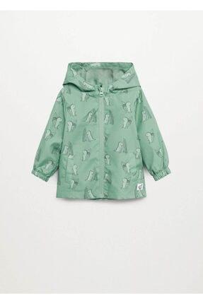 MANGO Baby Kapüşonlu Fermuarlı Ceket