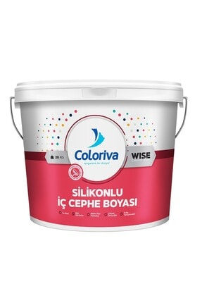 Coloriva Silikonlu Mat Iç Cephe Duvar Boyası 20 Kg Renk:buzul Gri