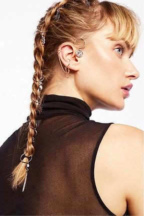 New Obsessions Kadın Multicharm Saç Küpe Seti