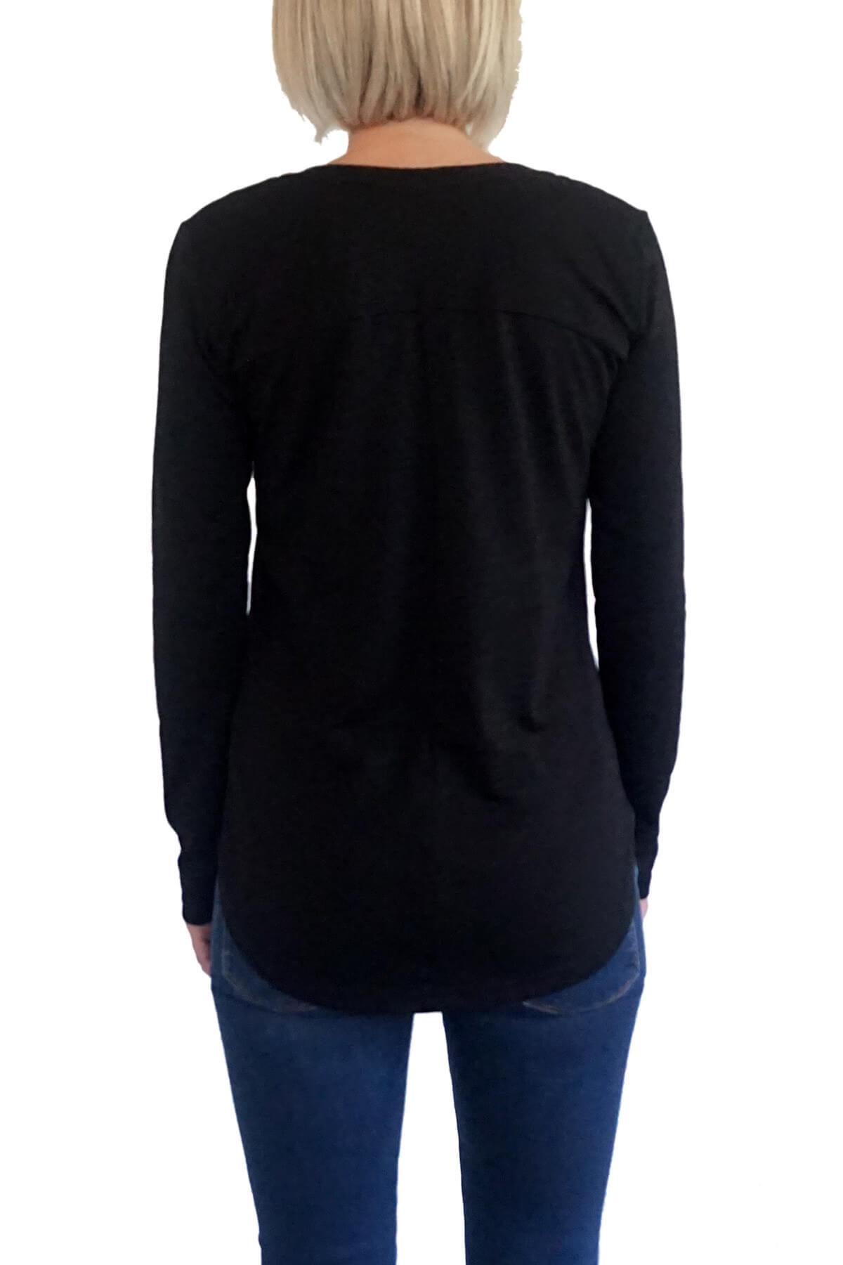 MOF Kadın Siyah T-Shirt VYVKT-S 2