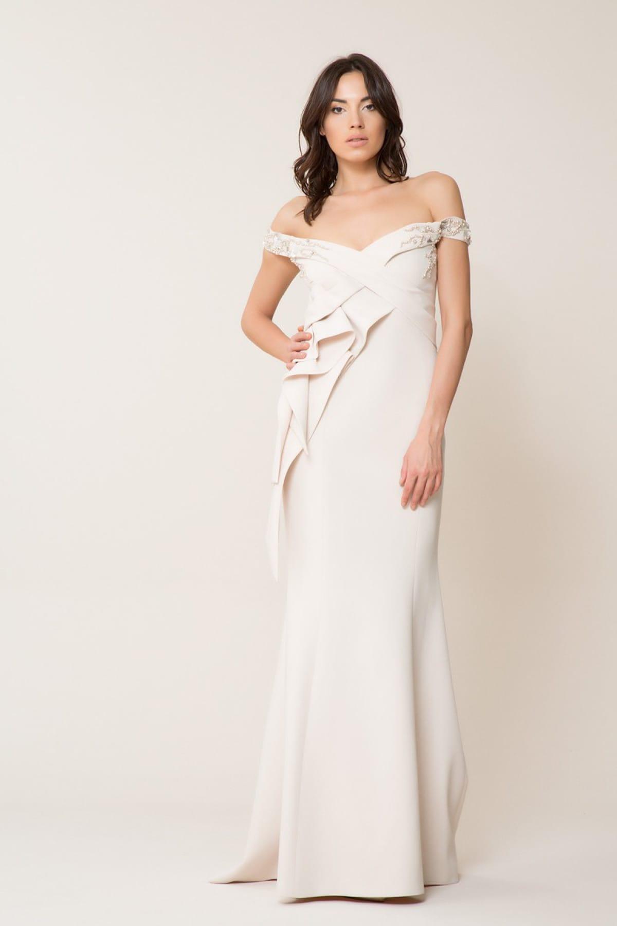 GİZİA Kadın Düşük Yaka Uzun Elbise M18Y5W07213CF 1