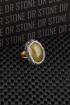 Dr. Stone Kadın Akik Taşı Altın Kaplama Yüzük X20Ar506