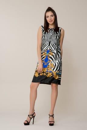 GİZİA Kadın Zebra Desenli Mini Elbise M18Y5W2551AC2