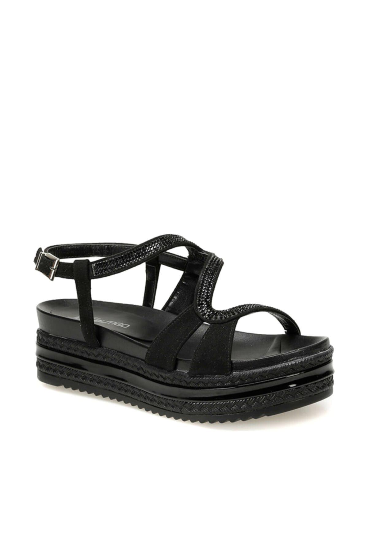 Butigo 19s-382 Siyah Kadın Sandalet 100372520 1