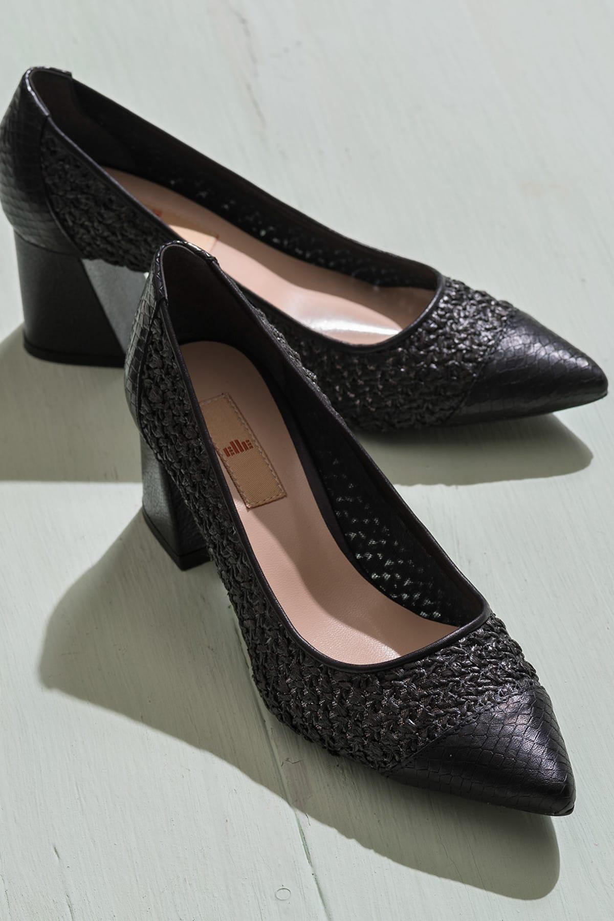 Elle Shoes MARGERY Siyah KadınAyakkabı 1