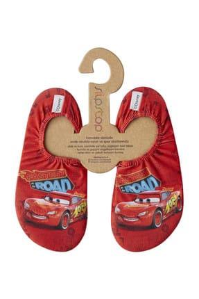 SLIPSTOP Disney Cars Erkek Çocuk Kırmızı Deniz Ayakkabısı