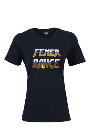 Fenerbahçe Kadın Trend Nakışlı T-Shirt