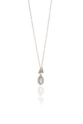 Söğütlü Silver Kadın Gümüş Zirkon Taşlı Elmas Montürlü Damla Kolye SGTL9005KOLYE