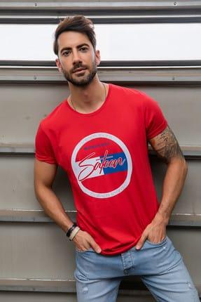 Sateen Men Erkek Kırmızı Baskılı T-Shirt 188-1138