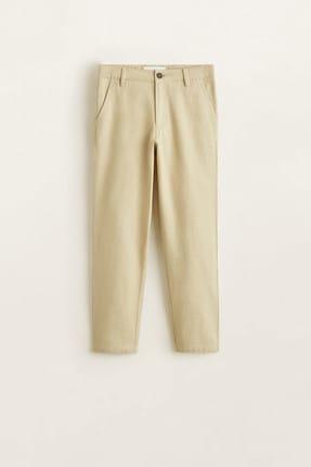 MANGO Kids Bej Erkek Çocuk Pantolon 43035013