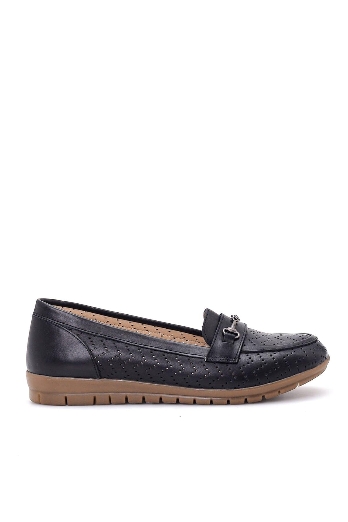 Derimod Hakiki Deri Siyah Kadın Loafer Ayakkabı 2