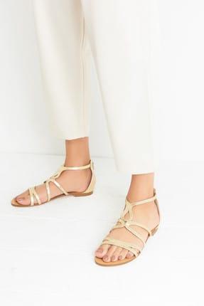 Derimod Altın Rengi Kadın Sandalet