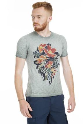 Lufian Erkek Fama Vintage T- Shirt Haki 111020002100630