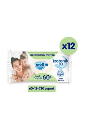 Molfix İzotonik Sulu Islak Mendil Ferah Temizlik 12'li Paket - 720 Adet