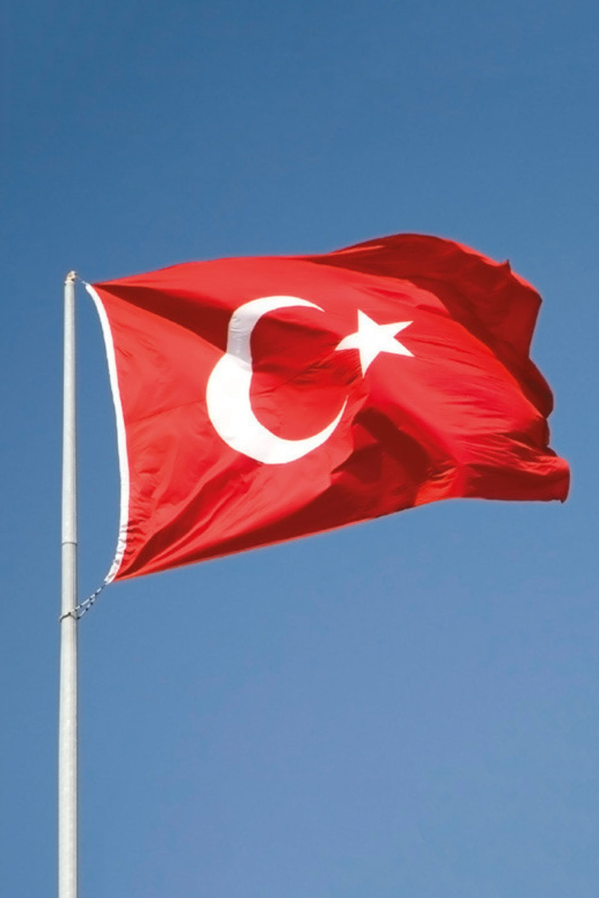 bayrakal Türk Bayrağı Alpaka Kumaş 80x120cm. 2
