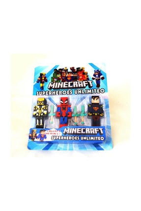 MINECRAFT Superheroes Unlimiteo Figür Seti 6 Parça