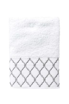 Minteks Pastoral 50X90 Cm. Ares - Beyaz Havlu