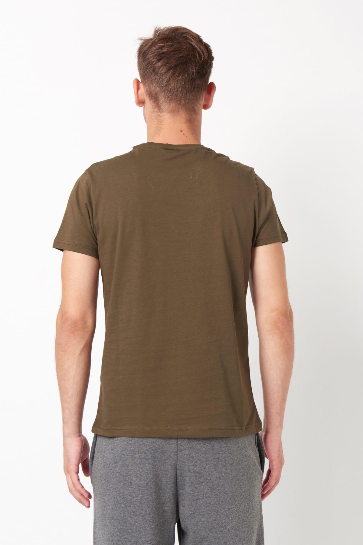 HUMMEL HMLENZO  T-SHIRT S/S TEE Koyu Haki Erkek T-Shirt 100579829 2
