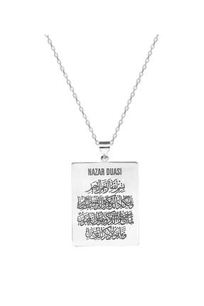 Chavin Ayetel Kürsi Nas Felak İhlas Nazar Sureleri Gümüş Kolye gk054